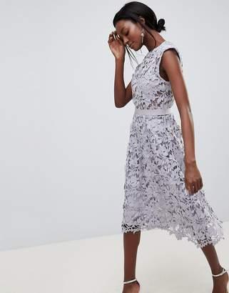 Forever Unique Lace Midi Dress
