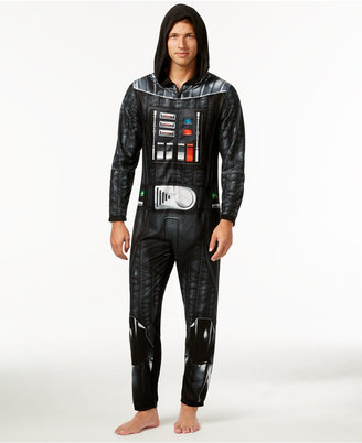 Star Wars Men's Darth Vader Hooded One-Piece Pajamas from Briefly Stated $70 thestylecure.com