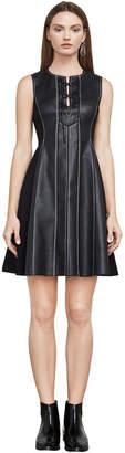 BCBGMAXAZRIA Jolee Sleeveless Faux-Leather Dress