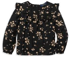 Ralph Lauren Little Girl's& Girl's Ruffled Floral Top