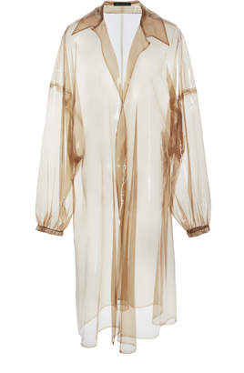 clear Sally LaPointe Oversized Vinyl Coat