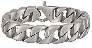 """Steel by Design Men's 8-1/2"""" Brushed Curb LinkBracelet"""