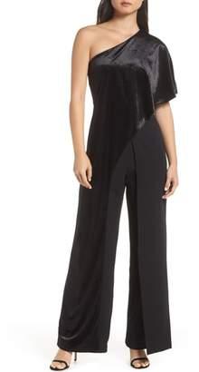 Adrianna Papell Velvet Overlay Jumpsuit