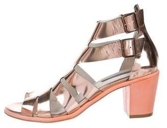 Miista Metallic Patent Leather Sandals