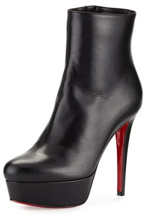 Christian Louboutin Christian Louboutin Bianca Leather 120mm Red Sole Bootie, Black