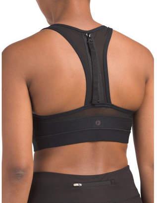 Missy Bra Top With Zipper Detail