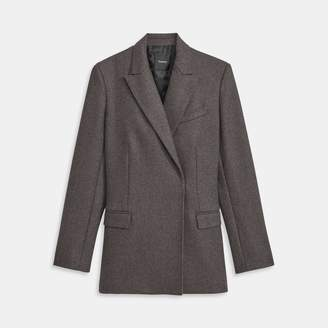 Cashmere Tweed Double-Breasted Jacket