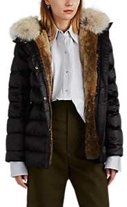 Army by Women's Fur-Trimmed & Fur-Lined Down Puffer Jacket - Black