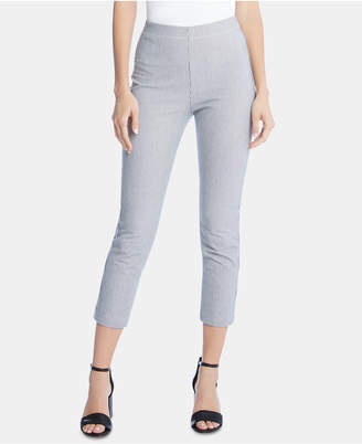 Karen Kane Cropped Pinstriped Skinny Pants