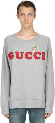 Gucci Pig Patch Cotton Knit Sweater