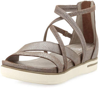 bf2096850230 Eileen Fisher Skip Sport Metallic Leather Platform Sandals