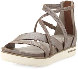 66d5db788e5 Eileen Fisher Skip Sport Metallic Leather Platform Sandals