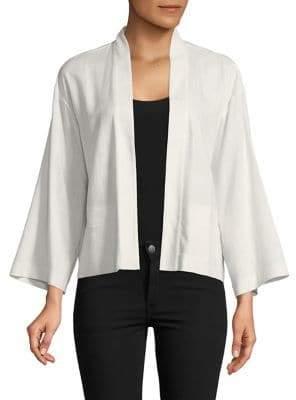Halston H Open Front Kimono Jacket