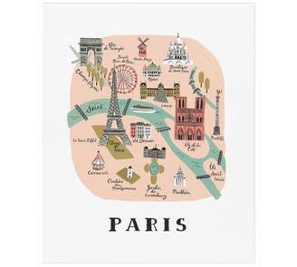 Pottery Barn Paris Map by Rifle Paper Co.