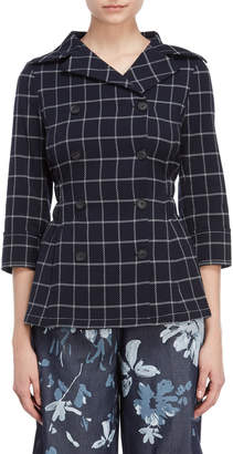 I'M Isola Marras Windowpane Double-Breasted Jacket