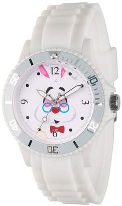 Disney Alice in Wonderland Womens White Strap Watch-Wds000363