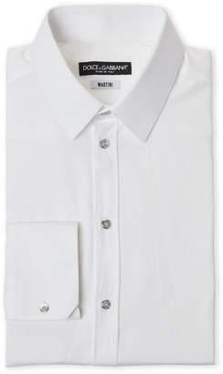 Dolce & Gabbana Diamond Pattern Martini Fit Dress Shirt