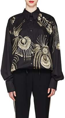 Dries Van Noten Women's Cotton Button-Front Blouse