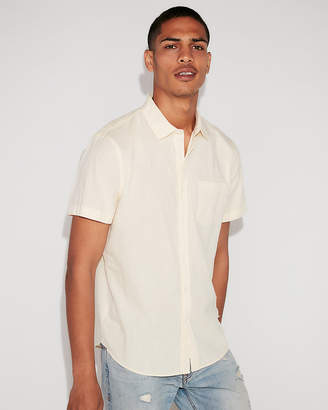 Express Classic Solid Short Sleeve Shirt