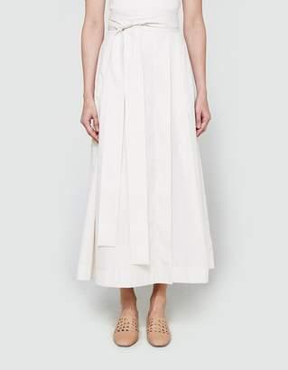 Da/Da Diane Ducasse Striped Poplin Skirt