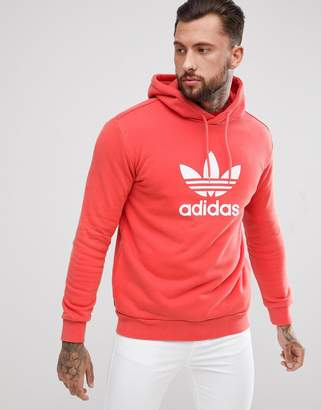 adidas adicolor Hoodie With Trefoil Logo In Red CX1899