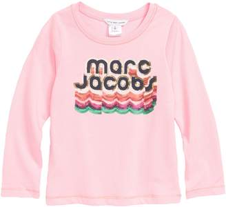 Little Marc Jacobs Sequin Logo Tee