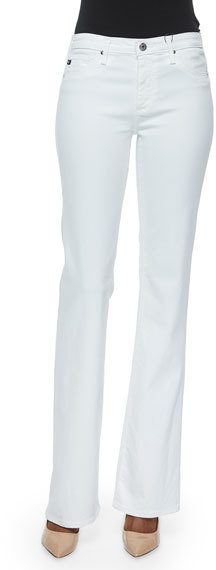 AG JeansAG Adriano Goldschmied Angel Mid-Rise Boot-Cut Jeans, White