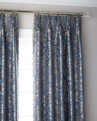 "Thomas Laboratories Misti Modern Luxuries Bellantine 3-Fold Pinch Pleat Blackout Curtain Panel, 132"""