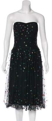 Neiman Marcus Strapless Cocktail Dress