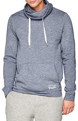 Tom Tailor Men's Sweatpullover mit Kangarootasche und großem Stehkragen Sweatshirt, (Night Sky Blue Melan 10762), (Size: )