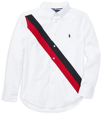 Ralph Lauren Boys' Oxford Banner Performance Shirt - Big Kid