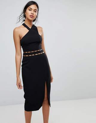 Finders Keepers Finders Solar Halter Cut Out Midi Dress