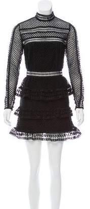 Self-Portrait Guipure Lace Mini Dress w/ Tags