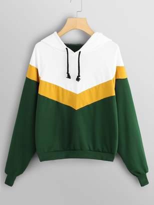 70f93290a6 Shein Cut And Sew Raglan Sleeve Sweatshirt