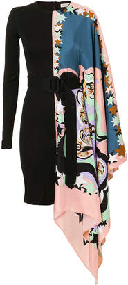 Emilio Pucci Asymmetric Printed Mini Dress