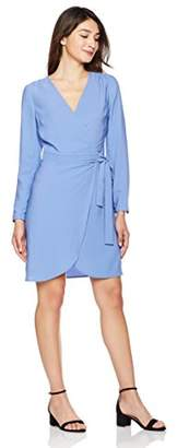 Suite Alice Women's Women's Woven Long Sleeve Front Wrap Midi Dress