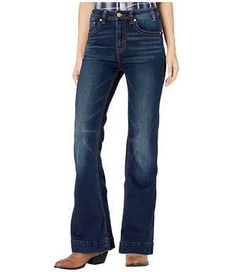Rock and Roll Cowgirl Trousers Jeans in Dark Vintage W8H1019