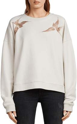 AllSaints Birds Embroidered Sweatshirt