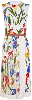 Tory Burch Carine Floral Pleated Dress