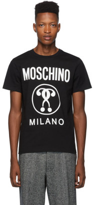 Moschino Black Double Question Mark Logo T-Shirt
