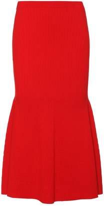 Victoria Beckham Ribbed wool-blend skirt