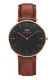 Daniel Wellington Classic Black St Mawes Rose Gold Watch