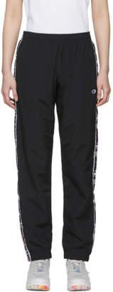 Champion Reverse Weave Black Stripe Track Pants