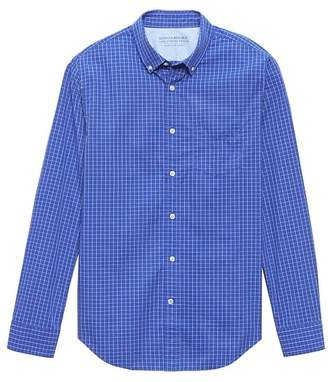 Banana Republic Grant Slim-Fit Luxe Poplin Check Shirt