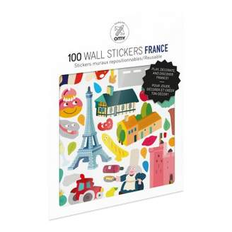 Sale - France Wall Stickers - Set of 100 - Omy