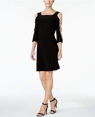 Msk Embellished Cold-Shoulder Cocktail Dress $69 thestylecure.com