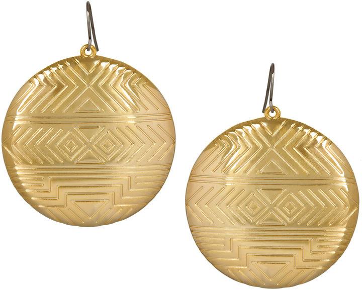 House Of Harlow 1960 Plated Medallion Earrings