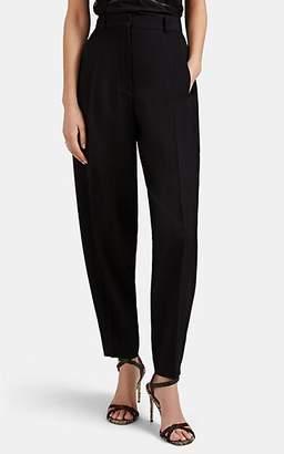 Victoria Beckham Women's Rib-Knit Wool High-Rise Trousers - Black