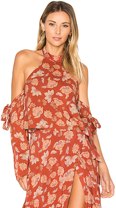 ale by alessandra x REVOLVE Branca Top in Burnt Orange $138 thestylecure.com