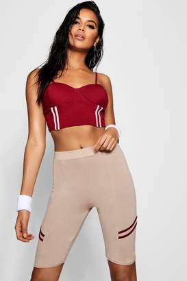 boohoo Sports Stripe Cycling Shorts